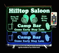 Personalized LED Man Cave Sign Custom Garage Sign, Bar sign, Gift for Dad - $94.05+