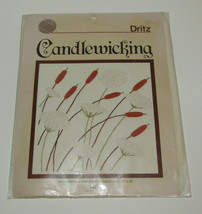 """Candlewicking Cattails and Queen Anne's Lace Dritz 12""""x12"""" Dritz Risdon ... - $19.39"""