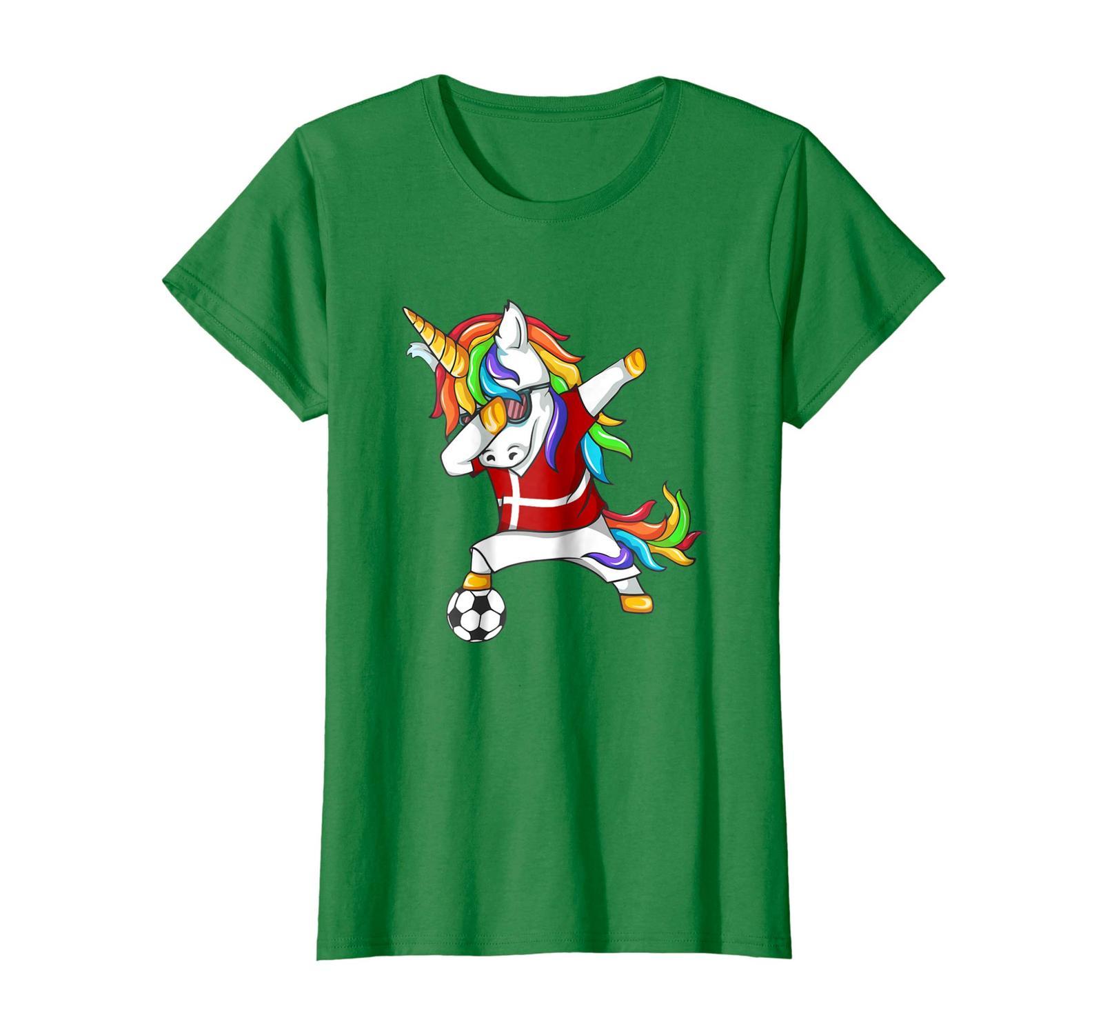 New Shirts - Dabbing Soccer 2018 Unicorn Denmark T-Shirt Wowen
