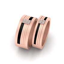 Diamond Engagement Band Set For Couple His and Her 2Pc Matching Eternity Bands - $279.99