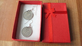 1949 sixpence silver earrings many dates available - $9.89