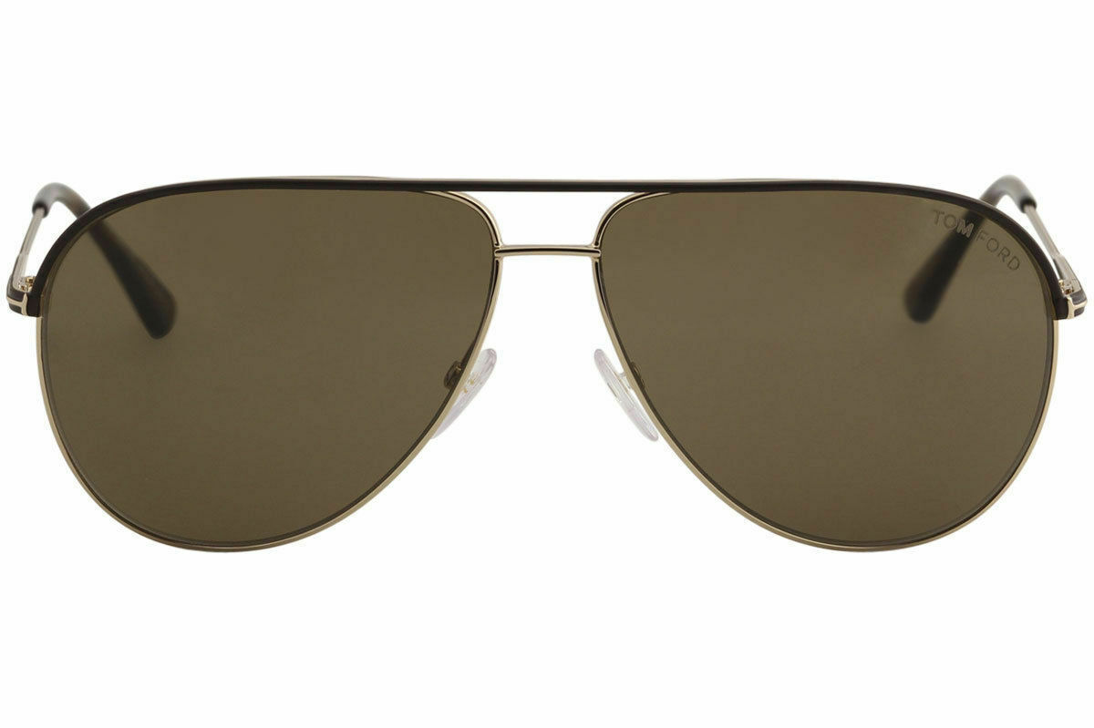 Tom Ford Erin TF466 TF/466 50J Brown/Rose Gold Fashion Pilot Sunglasses 61mm