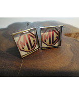 "Men's Custom Gold Finish Cuff Link Set ""MG"" British Automobile Car Logo - $19.99"