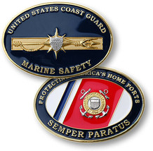 "UNITED STATES COAST GUARD MARINE SAFETY 2"" CHALLENGE COIN - $17.14"