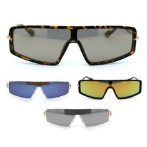 Luxury Shield Narrow Designer Plastic Robotic Sunglasses - $12.95