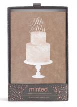 20ct Minted Wedding Bridal Shower Mr. and Mrs. Cake Topper Print Cards Envelopes image 2