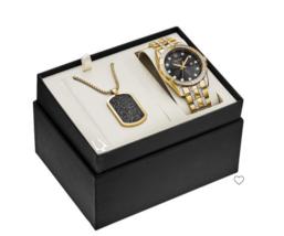 Bulova Men's Crystal Swarovski GoldTone 98K107 With Chain( FEDEX 2 DAY S... - $445.50