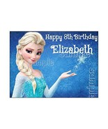 ELSA FROZEN EDIBLE IMAGE CAKE TOPPER DECORATION PARTY BIRTHDAY PERSONALI... - $9.95
