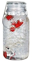 Estilo 1 Gallon Glass Mason Jar Drink Beverage Dispenser with Leak Free ... - $17.93