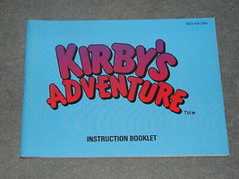 Nintendo NES: Kirby's Adventure [Instruction Book Manual ONLY] NR MINT! - $12.00