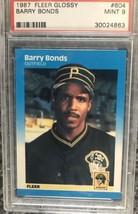 1987 Fleer GLOSSY Barry Bonds #604 Rookie Card Graded PSA 9 Mint HOF - $26.72
