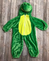 Plush Frog Sz 12m 18m Green One Piece Warm Halloween Costume Baby Infant - $11.77