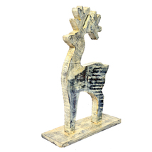Animal Deer Made With White Rustic Wood Art Collectible Figurine Perfect... - $48.95