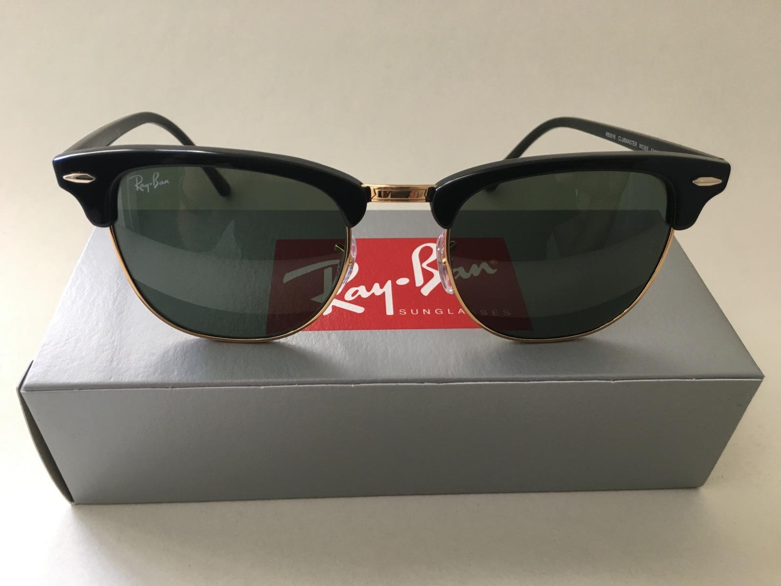 e9d9f0ad29 Rb3016 w0365 1. Rb3016 w0365 1. Previous. Ray-Ban RB3016 W0365 Black   Gold Clubmaster  Sunglasses G15 Green Lens ...