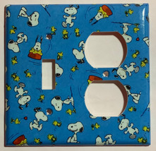 Peanuts Snoopy Woodstock Light Switch Power Outlet Wall Cover Plate Home Decor image 6