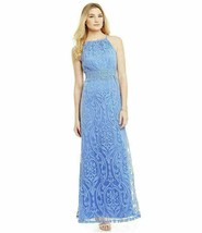 730937204065 Maggy London Lace Halter Maxi Dress Gown SZ. 8 - $70.40