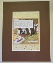 "Mary Engelbreit Print Matted 8 x 10 ""We Have Not Inherited the Earth"" - $16.40"