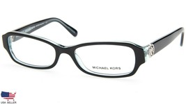 NEW MICHAEL KORS MK8002 Anguilla 3001 BLACK BLUE EYEGLASSES FRAME 50-16-... - $89.09