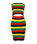 Rasta Clothing For Women Jamaican Reggae Knit Tube Top and Skirt Set - $39.99