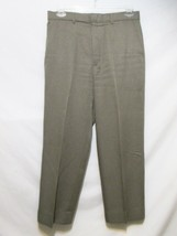 "Levis Action Slacks Vintage Men's Pants W-34 X L-26"" Short Brown Dacron Office - $37.00"
