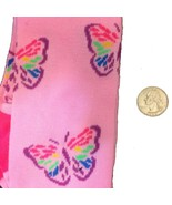 Pink Rainbow BUTTERFLY KNEE HIGHS SOCKS-Punk Novelty Lolita Kawaii Cheer... - $5.91