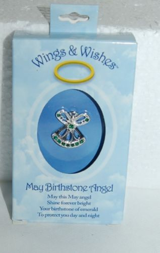 DM Merchandising Wings Wishes WGW05 May Birthstone Angel