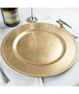 Beaded Round Charger Plates Dinner Chargers for Tabletop Decoration Gold... - $161.34