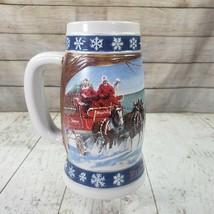 Budweiser Lighting the Way Home Holiday Collector's Series Beer Mug Stei... - $17.99