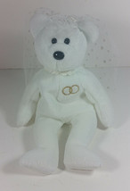 Ty Beanie Baby Mrs Teddy Bear Plush 8in Bride Stuffed Animal Retired 2001 - $9.99