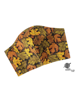 Fall Leaves Face Mask Gold Metallic Sparkle Adjustable Cotton Facemask H... - $8.00