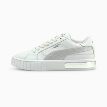 Puma Womens California Star Metal Leather Low Shoes White - $186.32