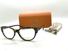 Tory Burch TY 2092U 1728 DARK HAVANA 52-17-140MM Eyeglasses Frame /CASE - $77.57