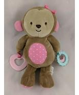 "Carters Child of Mine Monkey Plush Teether Rings 9"" Stuffed Animal toy - $12.95"