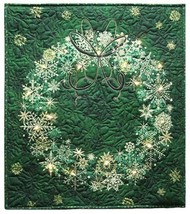 Starry Night II Christmas Wreath Evergreen Wallhanging Panel Fabric Kit ... - $26.97