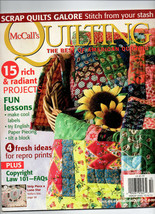 Sept-Oct 2010/McCall's Quilting/Preowned Craft Magazine - $3.99