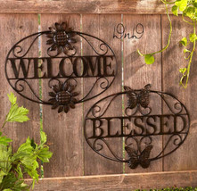 Metal Wall Art Bronze Finish Indoor/Outdoor Home or Blessed Durable Embe... - $15.99