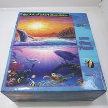"The Art Of Steve Sundram ""Golden Sunrise"" 1000 Piece Jigsaw Puzzle ocean theme - $19.79"