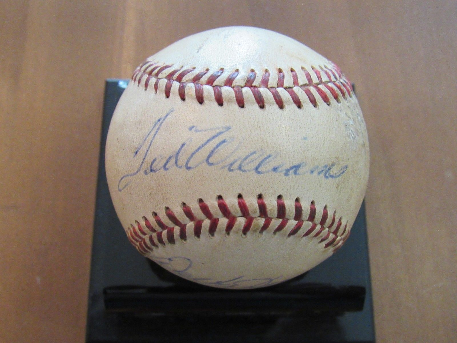 Primary image for TED WILLIAMS HOF RED SOX SIGNED AUTO RARE GAME USED GILES BASEBALL JSA LOA
