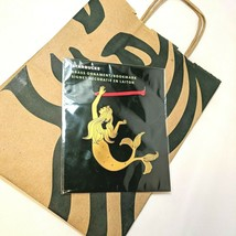 Starbucks Brass Siren Mermaid Hanging Ornament Bookmark 2020 NEW In Package - $14.79