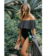 ITCQUALITY SEXY OFF THE SHOULDER SOLID WOMEN SWIMWEAR ONE PIECE SWIMSUIT... - $45.00