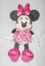 Disney Store Minnie Mouse Baby Collection Plush Stuffed Animal Pink Polk... - $15.81