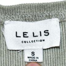 Le Lis Women's Mint Green Corduroy Ribbed Knit Square Neck Sleeveless Bodysuit S image 3