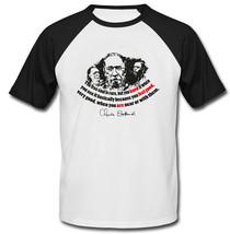Charles Bukowski The Free Soul Quote - New Cotton Baseball Tshirt - $27.51