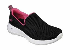 Women's Skechers GOwalk Joy Centerpiece Slip-On Walking Shoe Black/Hot P... - $79.67