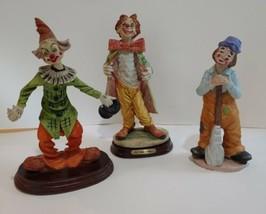 Lot Of 3  Porcelain Clown Figurines - $19.79
