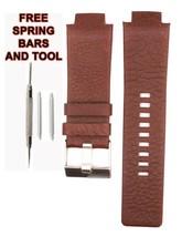 27mm braun Leder Uhr Band für Diesel DZ1123 DSL161 - $28.49