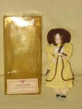 "Vintage Danbury Mint "" Catherine "" Gibson Girl Porcelain Doll - 7 Inches - $39.35"