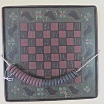 Painted Checkerboard & Checkers, black birds, primitive folk style, wall... - $17.82