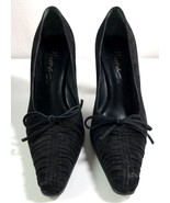Mima Black Suede Pumps Women's Pointy Toe High Heels Made in Italy EU 37... - $119.95