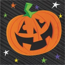Happy Haunts Kids 16 Ct Lunch Napkins Halloween Jack O'Lantern - $4.39